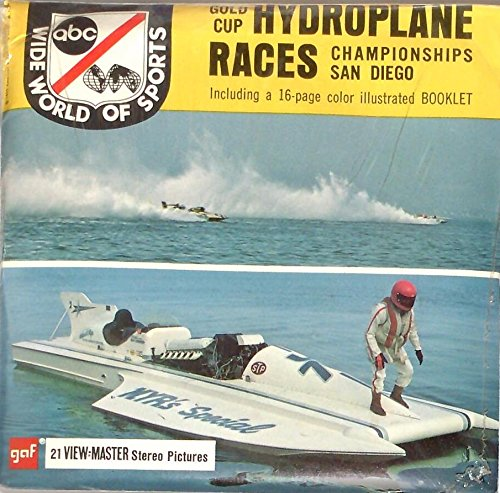 ABC Wide World Of Sports 1970 Gold Cup Hydroplane Races Championships San Diego California 3d View-Master 3 Reel Packet