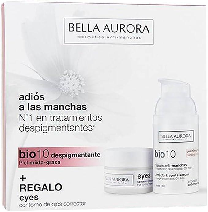 Bella Aurora Set De Bio 10 Serum Anti-Manchas y Eyes Contorno de Ojos Corrector Para Piel Mixta-Grasa: Amazon.es: Belleza