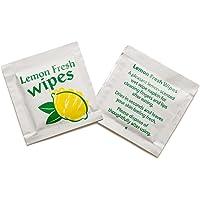 50 Lemon Scented Fresh Handy Wet Hand Wipe