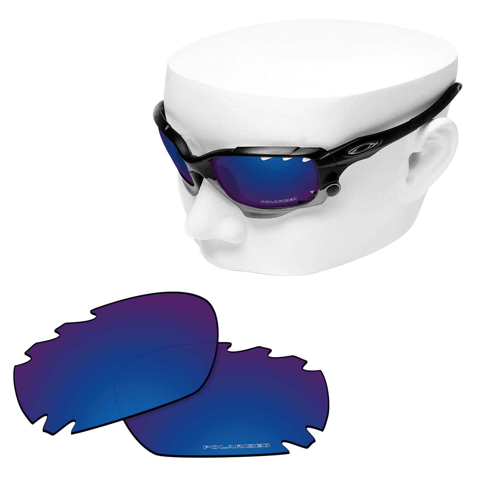 OOWLIT Replacement Sunglass Lenses for Oakley Jawbone Vented/Racing Jacket Vented Sapphire Combine8 Polarized by OOWLIT