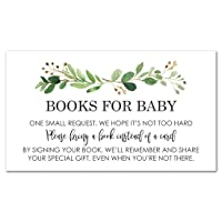 48 cnt Greenery Baby Shower Book Request Cards