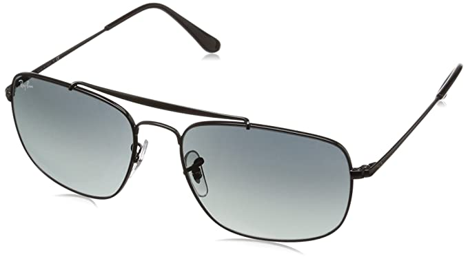 d06ea907bf34a3 Amazon.com  Ray-Ban Men s The Colonel Square Sunglasses, Black, 57.9 ...