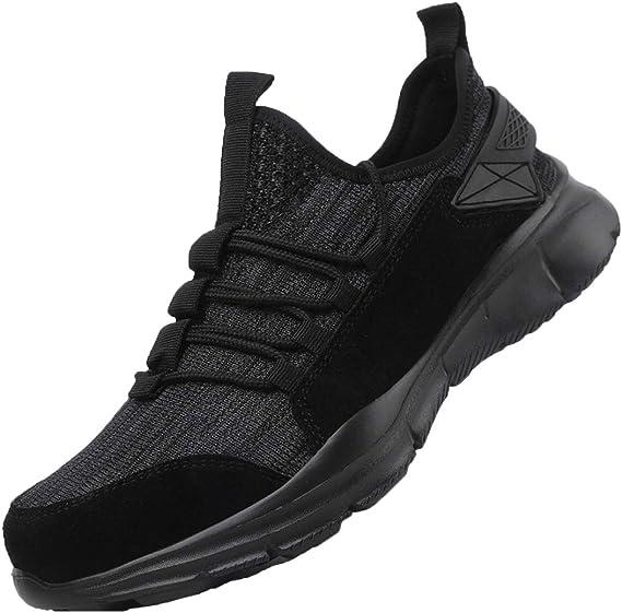 Zapatos de Seguridad Hombres, Zapatillas de Trabajo con Punta de Acero Ultra Liviano Transpirable Calzado de Industrial y Deportiva: Amazon.es: Zapatos y complementos