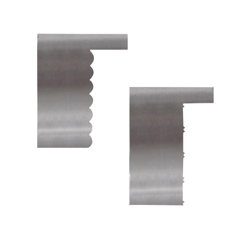 Aluminum Cake Scraper 2pcs/set, KOOTIPS Smoother Comb Set Cake Edge Side Decorating Tools Scraper