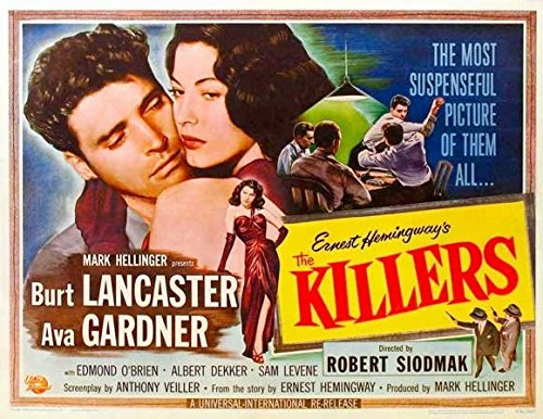 The Killers Poster Movie 1946 Style J Edmond O'Brien Albert Dekker Ava Gardner Burt