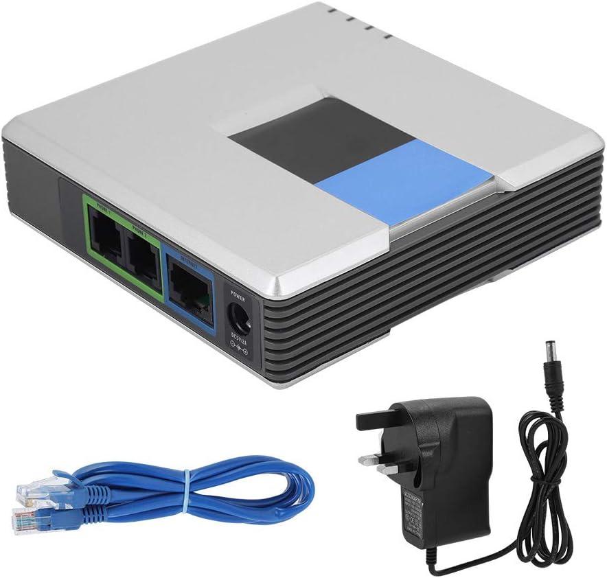 Zerone VoIP Gateway Double Ports SIP V2/protocole fax t/él/éphone Internet Adaptateur avec c/âble RJ 45