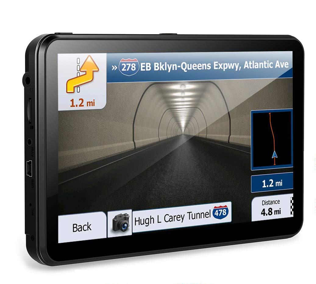 GPS Navi Navigation fü r Auto 7 Zoll Widescreen kapazitiver Touchscreen 8GB tragbare Auto Navigationssysteme, tragbare Navigation Built-Date Kartendaten und kostenlose Lifetime Map Updates KYXHEART