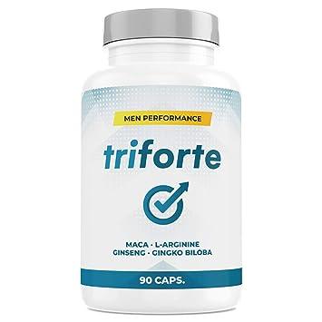 TRIFORTE Men Performance | Esperma + Potencia + Testosterona + Placer | 90 Cápsulas: Amazon.es: Salud y cuidado personal