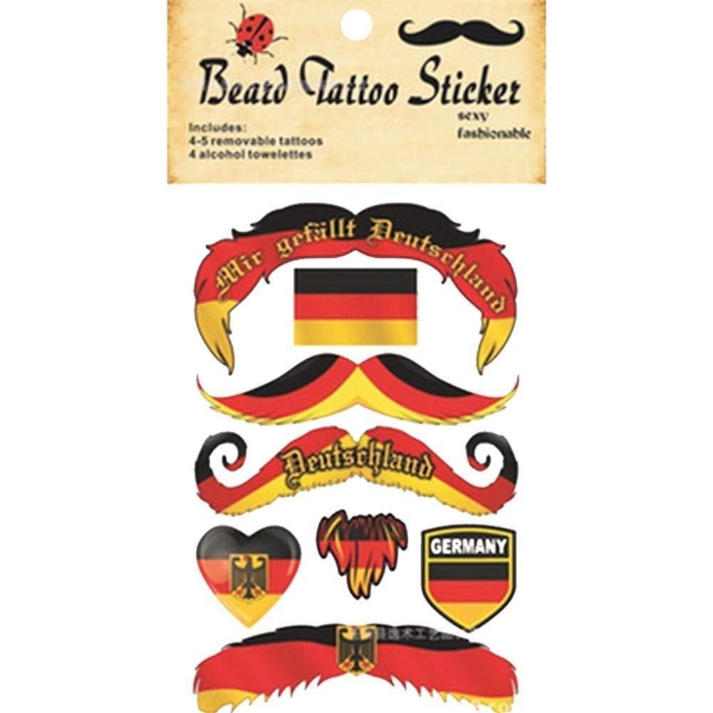 Etiquetas engomadas temporales del tatuaje del bigote para los ...