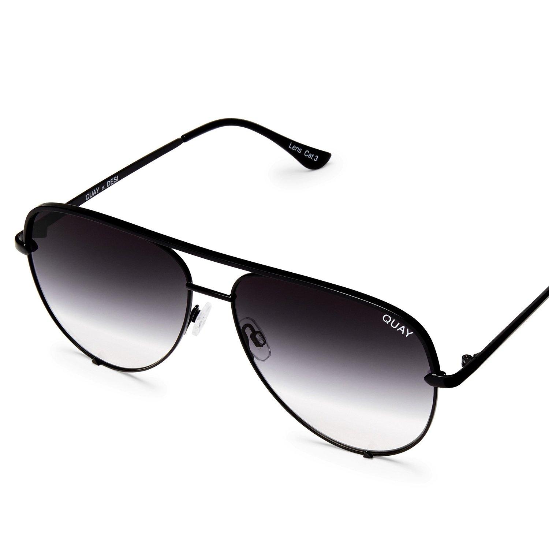 Quay Australia HIGH KEY MINI Men's and Women's Sunglasses Aviator Sunnies - Black/Fade by Quay Australia (Image #2)