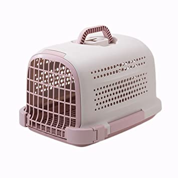 Cajas para Transporte De Mascotas Jaulas para Gatos Cajas para Perros Salientes Mochilas para Mascotas Airlifts Portador Bolsa (Color : Pink): Amazon.es: ...