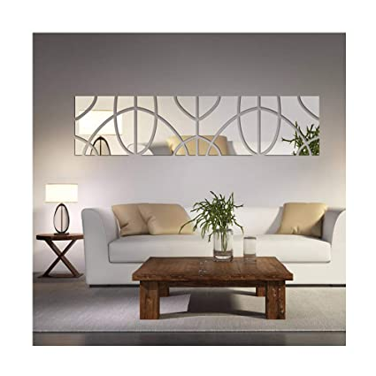 Amazon Com Fashion Geometric Art 3d Wall Stickers Diy Adesivo De