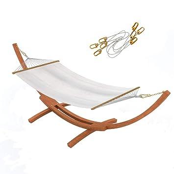 Ampel 24 Hängematte Im Set Mit Sicherung Und Gestell Madagaskar 400 Cm  Braun, Hängemattengestell Holz