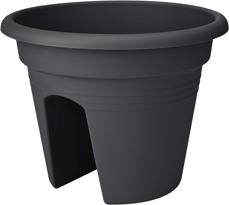 Pflanzgefäß Balkontopf mit Halter elho Green Basic Ø 20cm kirsche