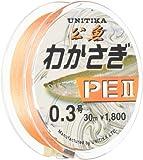 ユニチカ(UNITIKA) PEライン わかさぎPEII 30m ライトオレンジ