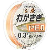ユニチカ(UNITIKA) ライン わかさぎPEII30m ライトオレンジ 0.3号 ライトオレンジ