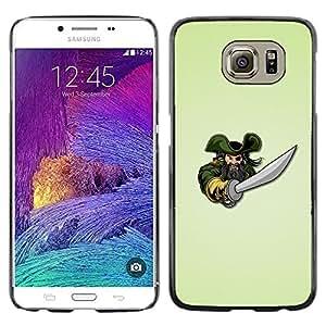 LECELL -- Funda protectora / Cubierta / Piel For Samsung Galaxy S6 SM-G920 -- Pirate & Sword --