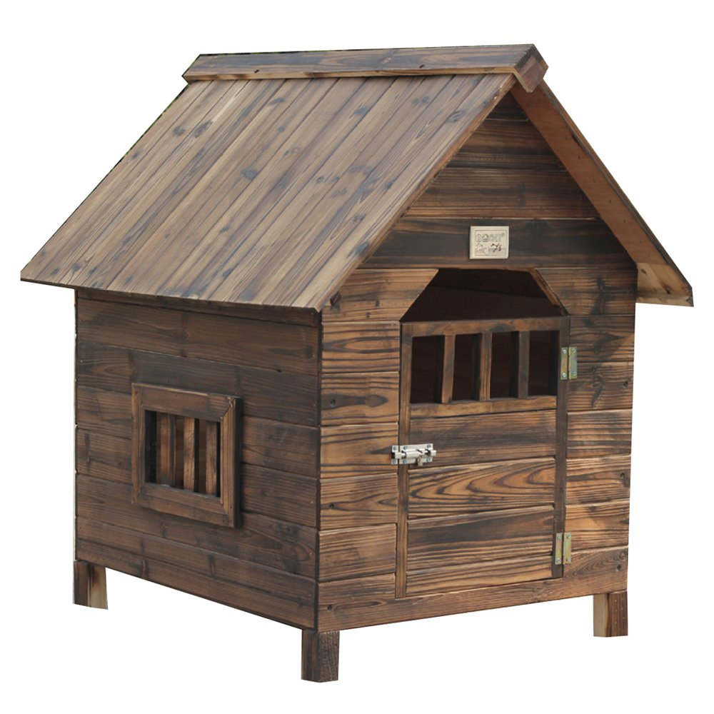 Brown Small Brown Small LDFN Fir Pet Nest Charcoal color Kennel Cat House Cat House Cat House Pet House,Brown-S