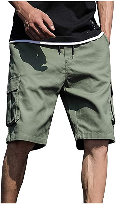 Fuibo Vêtements Homme Shorts Cargo Pantacourt