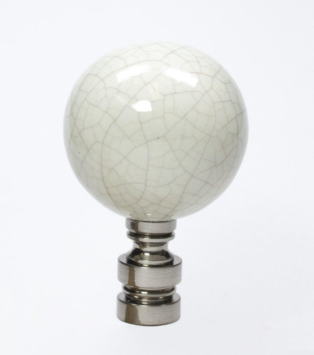 Ceramic 40mm Antique Celedon Nickel Base Finial 2.25''h