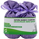 BUY MORE SAVE MORE Great Value SG Bamboo Charcoal Deodorizer Mini Bags, Best Air Purifiers for Smokers & Allergies, Perfect Odor & Moisture Absorber for Shoe, Gym Bag, Drawer & Locker(Lavender Purple)