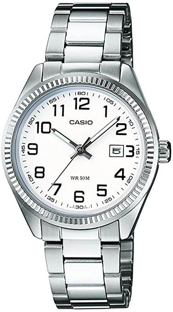 Casio Reloj Analógico para Mujer de Cuarzo con Correa en Acero Inoxidable LTP-1302PD-7BVEF
