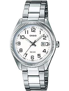 d19c1c5cf011 Casio Reloj Analógico para Mujer de Cuarzo con Correa en Acero Inoxidable  LTP-1302PD-