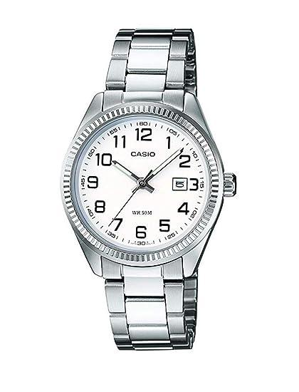 Casio Reloj Analógico para Mujer de Cuarzo con Correa en Acero Inoxidable LTP-1302PD-7BVEF: Amazon.es: Relojes
