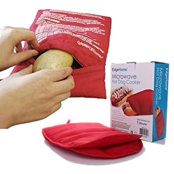 Takestop® Bolsa Saco Reutilizable para cocinar patatas ideal Potato Express Cocedora de 4 minutos para microondas o horno