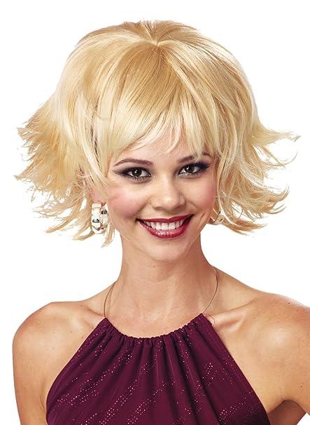 costume wig trippy shag blonde halloween costume 1 size