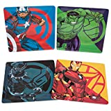 Marvel Avengers Plate Set of 4 - Black Panther, Captain America, Iron Man and Hulk - Dishwasher Safe - Durable Melamine