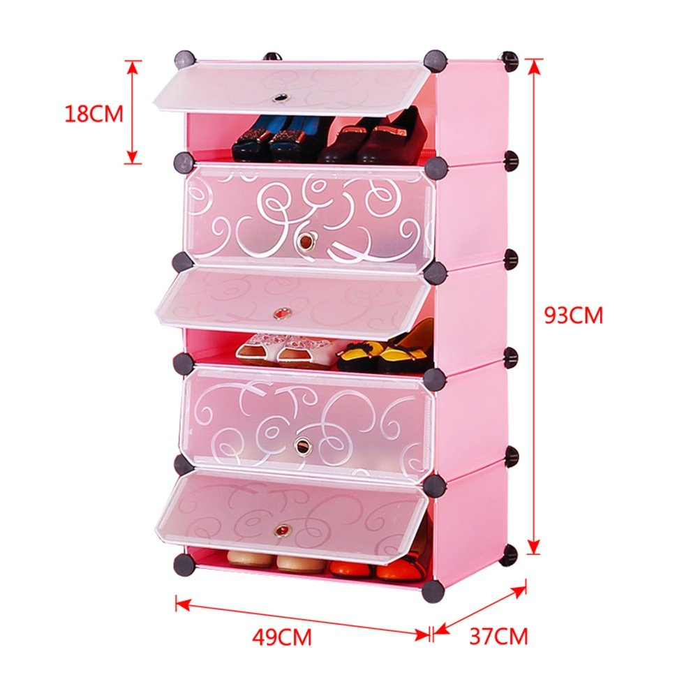 Steckregal aus kunststoff-boxen  MCTECH® Schuhschrank Schuhregal Schrank Steckregal Regalsystem mit ...