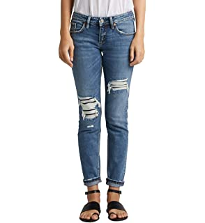 be939e9c Amazon.com: Silver Jeans Co. Women's Sam Mid Rise Boyfriend Jeans ...