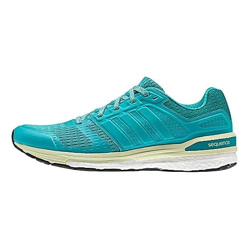 077860cb995a adidas Supernova Sequence Boost 8 Womens Running Shoe 6 Shock Green-Halo  Blue