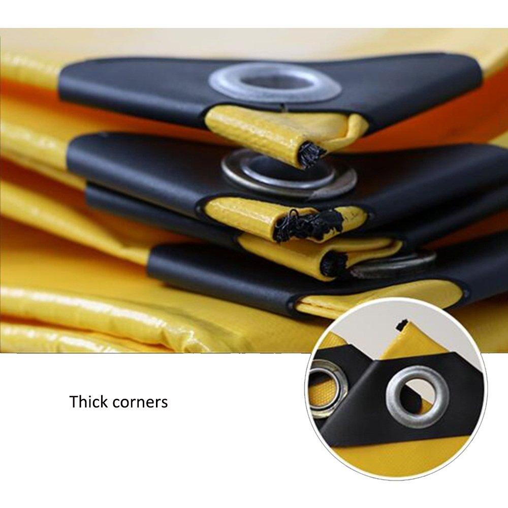QX pengbu IAIZI Gelbe Sonnenschutz-Plane-im Freienwaren-Abdeckungs-Tuch Doppelseitiges wasserdichtes (Farbe (Farbe (Farbe   Gelb, größe   6  10cm) B07MH9YVP7 Zeltplanen Schönes Design 51992c