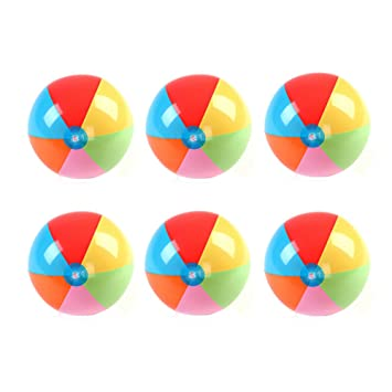 maaryee 3 colores/6 Colores PVC arco iris pelota hinchable de ...
