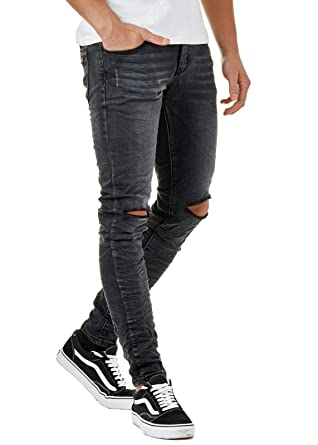 Gutscheincode 00c2a aa4d4 EightyFive Herren Denim Destroyed Jeans Hose Skinny Fit ...