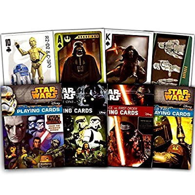 Star Wars Ultimate Playing Cards Set -- 3 Decks Featuring The Classic Trilogy, The Resistance, The First Order and More