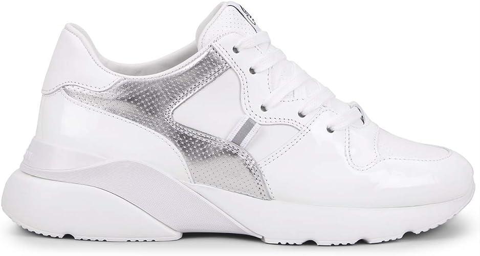 Hogan Zapatillas de Mujer Active One HXW3850BF40KI60351 Zapatillas de Running Deportivas de Piel Blanca y Plateada Calzado Paseo Nuevas Cómodas Casual Blanco Size: 40 EU: MainApps: Amazon.es: Zapatos y complementos