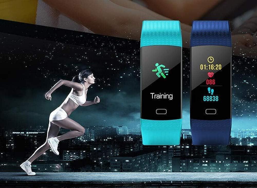 Écran Anti-Aquarelle Bracelet Intelligent Surveillance De La Fréquence Cardiaque Remise en Forme Anti-Perte Compteur De Pas Multifonction Montre Intelligente Green