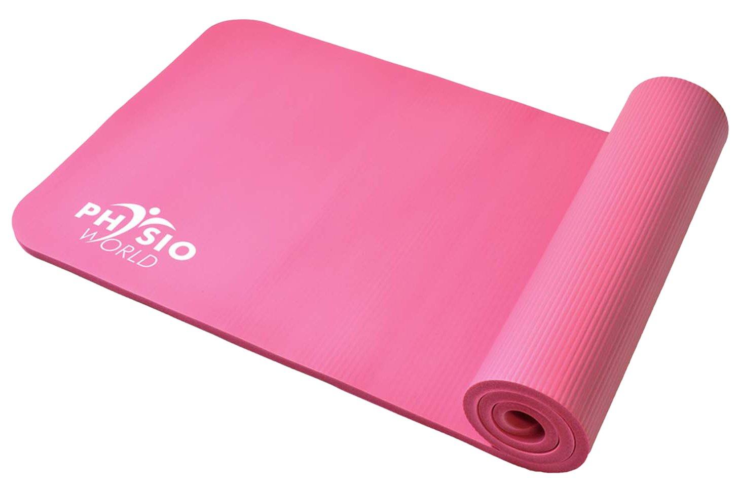 PhysioWorld - Esterilla de deporte, colchoneta de fitness / entrenamiento de espuma NBR para Pilates