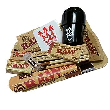 SMO King X RAW - Papel para liar cigarrillos, con bandeja de regalo