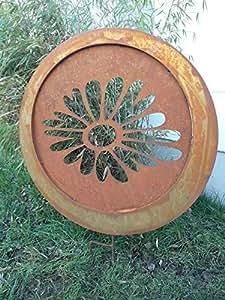 Para Jardín (Acero Inoxidable óxido de escultura de jardín de metal jardín Figure Símbolo de la suerte Jardín Decoración 74* 74* 3cm 101515