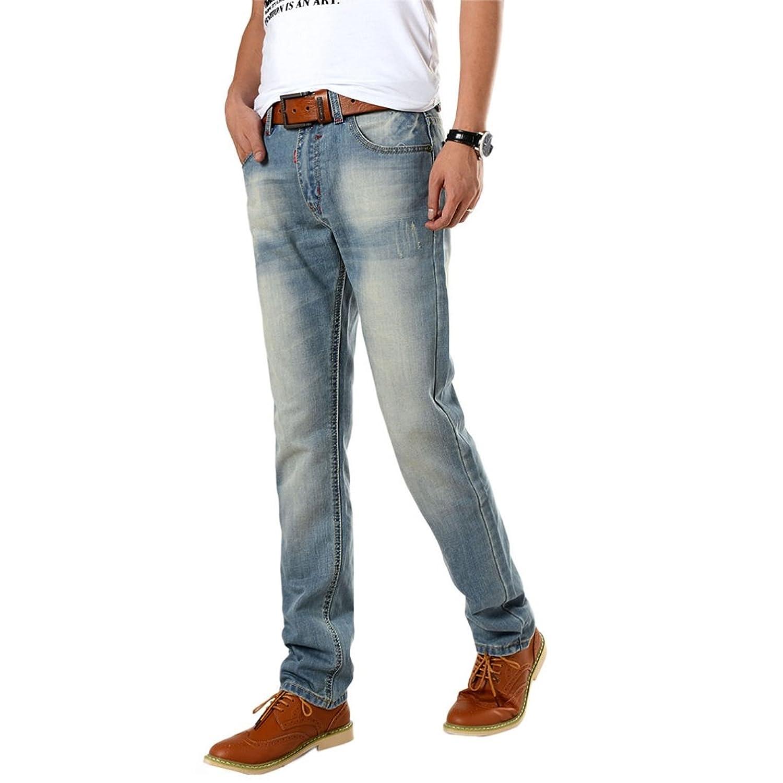 Sunward Big Sale New Men's Regular Fashion Jeans Men's Pants Summer Clothes