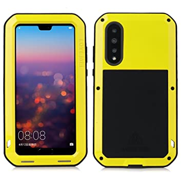 low priced 40cc8 287c5 LOVE MEI Huawei P20 Pro Shockproof Case,Outdoor Heavy Duty Waterproof  Shockproof Dust/Dirt/Snow Proof Hybrid Silicone + Aluminum Metal Case for  Huawei ...