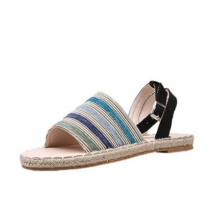 ec19bce759a35 Amazon.com: ❤ Mealeaf ❤ Women's Platform Thick Summer Open Toe ...