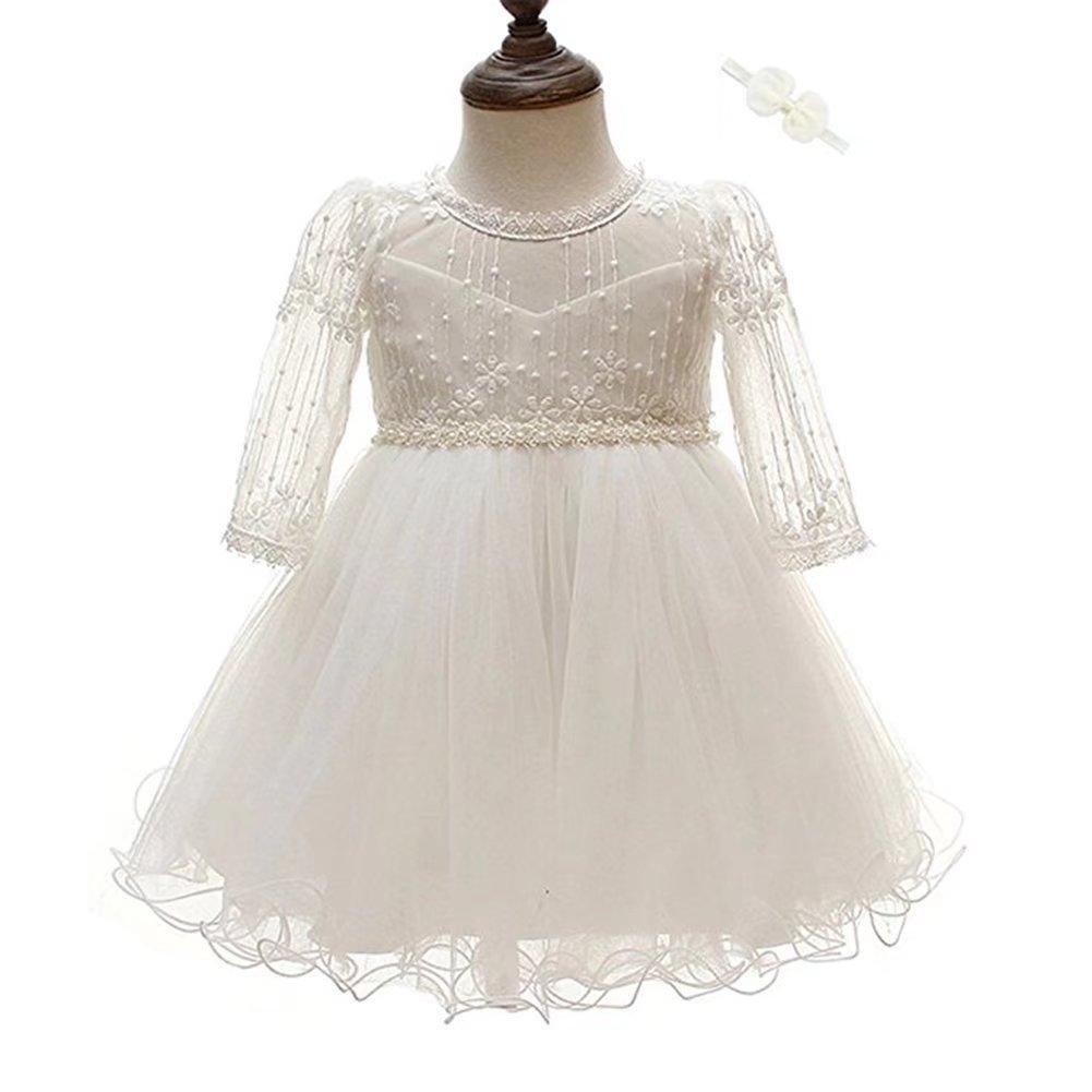 ZAH Baby Girl Dress Christening Baptism Gowns Formal Dress