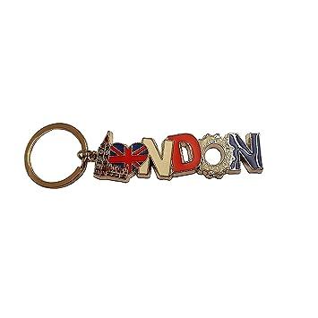 My London Souvenirs - Llavero Multicolor Silver Red White ...