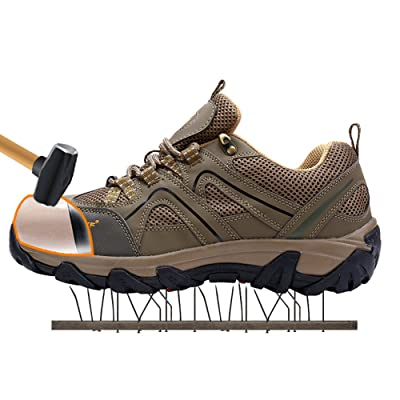 Modyf Outdoor Hiking Shoes for Men Steel Toe Cap Safety Shoes Puncture Proof Skidproof Footwear