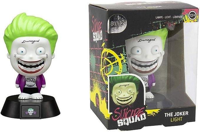 Suicide Squad Joker - Lámpara de mesa, diseño de cómics: Amazon.es: Juguetes y juegos